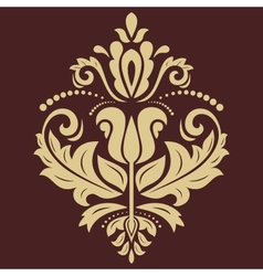 Damask golden pattern orient ornament vector