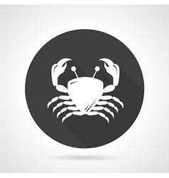 Crab black round icon vector