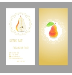 Business card with fruit vector