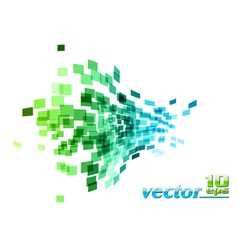 Green and blue wave square vector