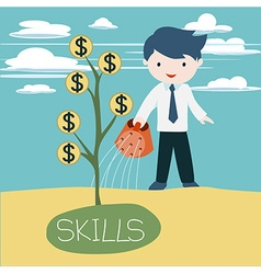 grow skills vector image