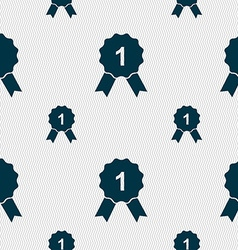 Award medal icon sign seamless pattern with vector