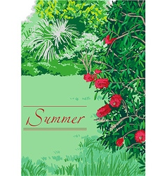 Summer landscape nature vector