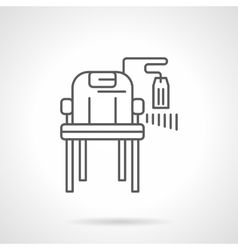 Chair with price tag flat line icon vector