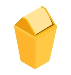 Trash plastic can with lid icon isometric 3d style vector