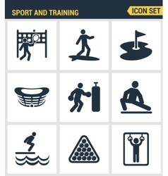Icons set premium quality of outdoor sports vector