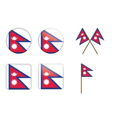 Badges with flag of nepal vector