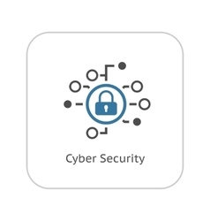 Cyber Security Icon Flat Design vector image