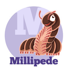 Abc cartoon millipede vector