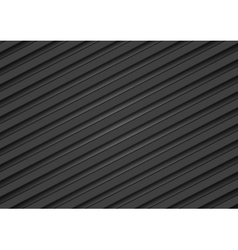Abstract tech black diagonal stripes background vector