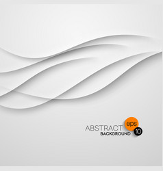 Abstract wave white background vector