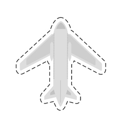 Airplane travel business vacation cut line vector