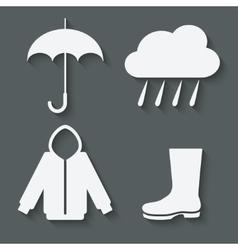 autumn icons set vector image