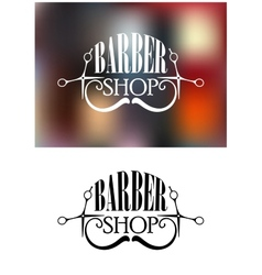Barber shop icon or emblem vector