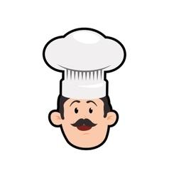 Chefs hat chef man male avatar person icon vector image