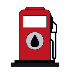 Colorful graphic fuel dispenser machine vector