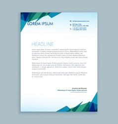 Creative abstract letterhead design vector