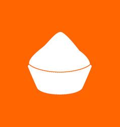 Cupcake white icon vector