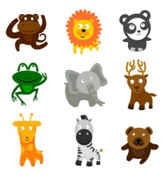 cute wild animals vector image vector image