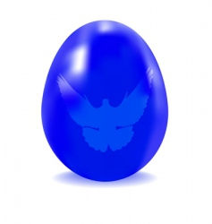 egg blue with a dove vector image vector image