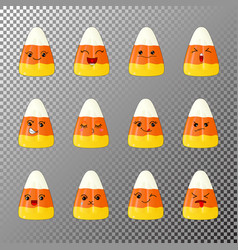 emoji of corn candy vector image
