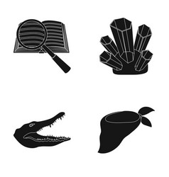 Fashion training and or web icon in black style vector
