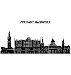 germany hannover architecture city skyline vector image