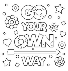 go your own way coloring page vector image