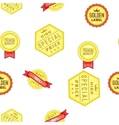 High quality labels pattern cartoon style vector