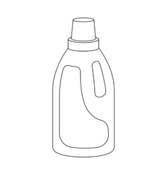 Laundry detergent icon in outline style isolated vector