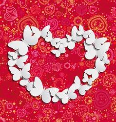 Love butterflies vector