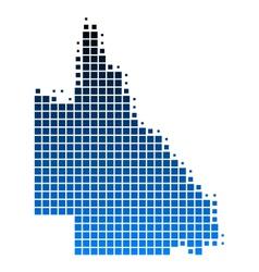 Map of Queensland vector image vector image