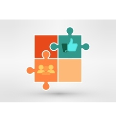 modern presentation diagramm with business people vector image vector image