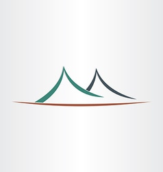 Mountains landscape symbol abstract icon vector