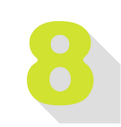 Number 8 sign design template element pear icon vector