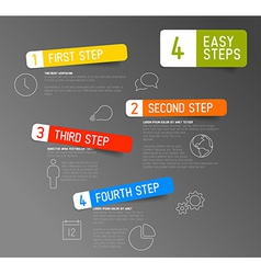 One two three four - 4 easy steps template vector image vector image