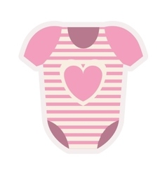 pink costume for baby girl vector image
