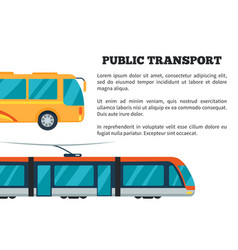 Public transport poster vector
