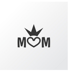 queen icon symbol premium quality isolated mom vector image vector image