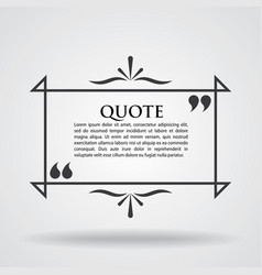 quote marks blank template card vector image vector image