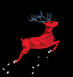 red deer of triangle shapes vector image vector image