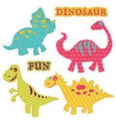 Scrapbook Design Elements - ute Dinosaur Set vector image vector image