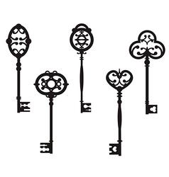 Set of cute vintage keys vector