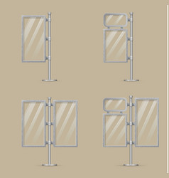 set of light box templates vector image vector image