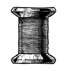 Sewing thread bobbin vector