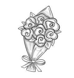 Sketch of bouquet vector
