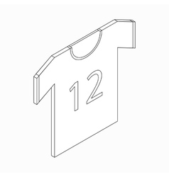 Sports shirt with number icon isometric 3d style vector image vector image