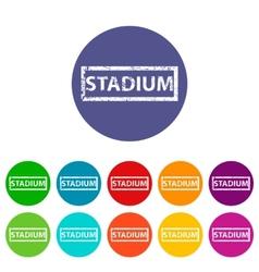 Stadium flat icon vector