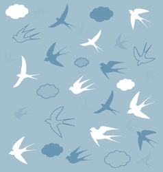 swallows in the sky vector image vector image