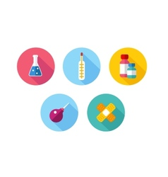 Trendy Flat science icons vector image vector image
